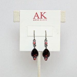 💢3 for $25💢Anne Klein Red Gem Drop Earrings